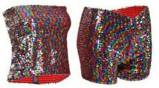 Sequin Multicoloured Shorts Long Boob Tube Top Columbia Costume Party Accessory