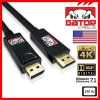 4K Display Port DP to HDMI 60Hz 2160P 18Gbps HDR Audio Video Cable Adapter 10FT