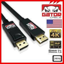 4K DisplayPort DP to HDMI 240Hz 2160P 18Gbps HDR Audio Video Cable Adapter 10FT