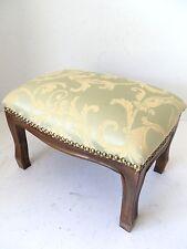 NUOVO Pouff poggiapiedi sgabello in legno e tessuto stile Classico 22 cm x 33 cm