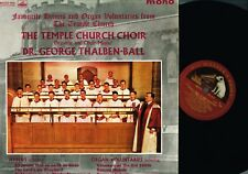 Temple Church Choir FAVOURITE HYMNS George Thalben-Ball MONO LP HMV CLP1452 @n/m