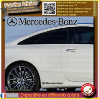 2 Stickers Autocollant Mercedes Benz sponsor rallye tuning drift