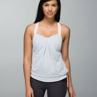 LULULEMON REST LESS TANK IN HEATHERED BRUISED BERRY WEE STRIPE SIZE 6