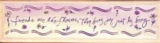 FRIENDS ARE FLOWERS BORDER - Wood Mounted Rubber Stamp - Hampton Art