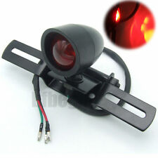New Motorcycle Rear Tail Brake Stop Black Light For Harley Custom Bobber Chopper