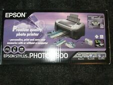 Epson Stylus photo R300 printer black and grey no marks prints perfectly.