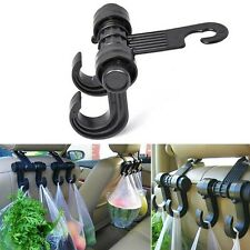 Car Seat Back Headrest Dual Hook Holder Plastic Hanger Fit For Bag Purse Cloth