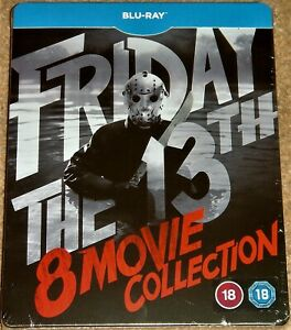 FRIDAY THE 13TH 8-MOVIE COLLECTION STEELBOOK / BLU RAY / WORLDWIDE SHIPPING