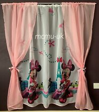 Disney Voile Net Curtains Girls Room - Minnie Mouse