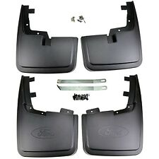 NEW OEM 15-17 Ford F-150 Front and Rear Mud Flaps SET Splash Guards w/o Flares
