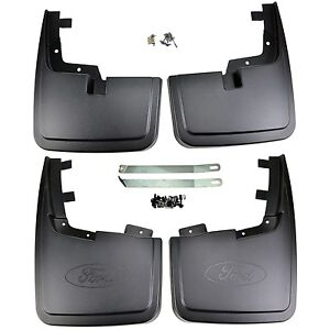 NEW OEM 15-20 Ford F-150 Front and Rear Mud Flaps SET Splash Guards w/o Flares