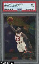 New listing 1997 Metal Universe #23 Michael Jordan Chicago Bulls HOF PSA 7 NM