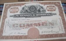 McKesson & Robbins OLD CANCELED STOCK  CERTIFICATE  1948