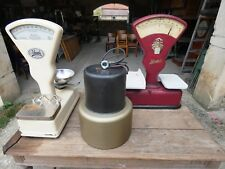 Lampe Industrielle HOLOPHANE Verre Prismatique Suspension Métal Usine 1960