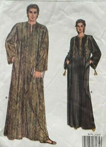 Vogue Sewing Pattern 8474 Unisex Caftan Misses Mens Boho Lounge Sizes Xsm-XLarge