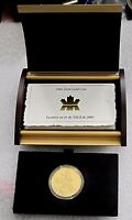 2003 CANADA $350 DOLLARS 99999 , 24K GOLD COIN, WHITE TRILIUM, RARE 38.05 GRAMS