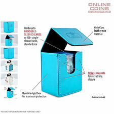 Ultimate Guard FLIP DECK CASE 80+ STANDARD SIZE LEATHERETTE - LIGHT BLUE