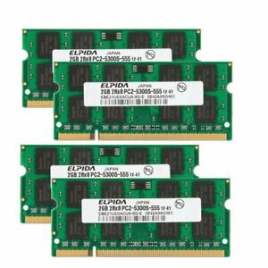 For Elpida 8GB 4x 2GB / 1GB PC2-5300S DDR2-667 SODIMM Laptop Notebook Memory LOT