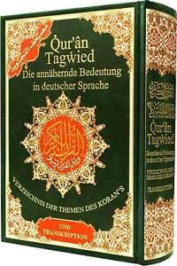 Quran Tajweed mit Übersetzung + Lautumschrift Komplett Islam Koran Kuran