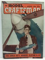 The Model Craftsman Cars Trains Railroad Issue August 1941 WWII Era Magazine