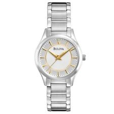 Bulova Women's White Dial Stainless Steel Watch 96L175-Tuning Fork Logo