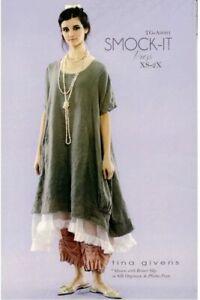 "TINA GIVENS ""SMOCK-IT DRESS A6001"" Sewing Pattern"