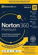 Norton 360 Premium 2021 10 Devices Antivirus Software VPN Cloud Digital DL 1 YR