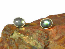 Oval  LABRADORITE   Sterling  Silver  925  Gemstone  Earrings / STUDS