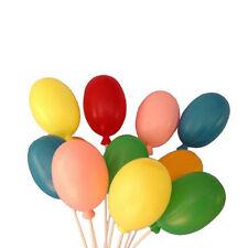 "12 EXTRA LARGE Plastic Balloons Picks Birthday Decorations 12"" Long"