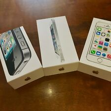 THREE (3) ORIGINAL IPHONE EMPTY BOXES WITH INSERTS 4S, 5 & 5S