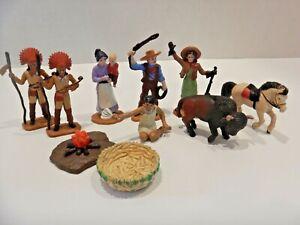 Vintage Safari Ltd Annie Oakley Cowboy Indian Buffalo Western Figures Playset