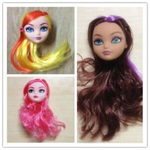 Demon Monster Doll Head with Hair Wig Doll Accessories For Monster High Dolls