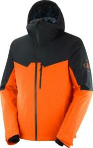 Salomon Untracked Mens Jacket Red Orange/Black/Heather