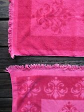 New listing Fieldcrest Imperial Collection vintage 70s 80s pink terry cloth towel set 4