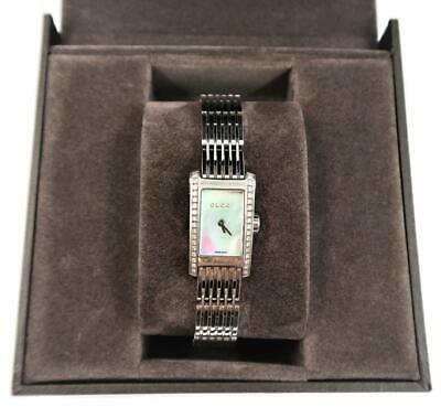 GUCCI Ladies Diamond Watch 28629, Mother of Pearl Face, 8600L, Mint in Box