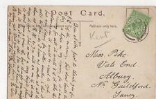 Miss Pike, Vale End, Albury, Guildford 1911 Postcard, B153