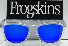 NEW* Oakley Frogskins Clear Crystal w Blue Violet Iridium Sunglass oo9245