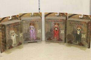 McFarlane Dawn Figures set of 4 Red White Black Purple