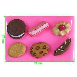 Cookies Wafer Chocolate Jammie Dodger Oreo Silicone Mould by Fairie Blessings
