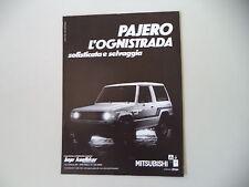 advertising Pubblicità 1984 MITSUBISHI PAJERO