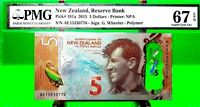 NEW ZEALAND 5 DOLLARS 2015 RESERVE BANK PICK 191 a LUCKY MONEY VALUE $150