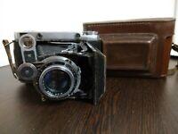 Vintage medium format rangefinder folding genuine photo camera Moscow-5  Moskva-5  \u041c\u043e\u0441\u043a\u0432\u0430-5