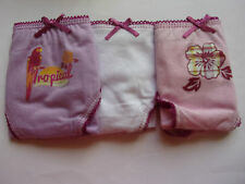 Ja3164  LOT de 3 culottes fille violet blanc rose *** BASIC ONE *** T 4/5 Ans
