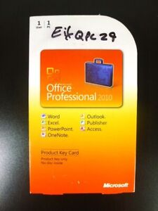 Microsoft Office 2010 Professional PRO PKC Word Outlook Access Windows XP/7/8/10