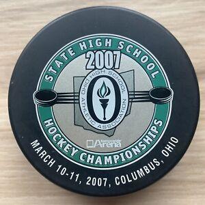 2007 OHIO STATE HIGH SCHOOL HOCKEY CHAMPIONSHIPS HOCKEY PUCK Columbus Nationwide
