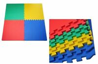 4x Interlocking Multi Colour Eva Mat Soft Foam Flooring Mats Play Exercise Gym