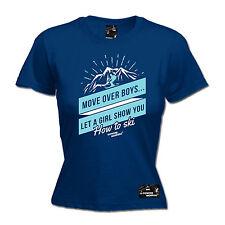 Move Over Boys Ski Womens Powder Monkeez Uk T-Shirt birthday gift skiing skier