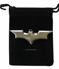 BATMAN DC COMICS MARVEL SUPEREROE cavaliere oscuro Bat Logo Silver Pin Spilla Badge