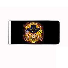 Metal Money Clip Cash Bills Credit Card Metal Holder Skull D 12