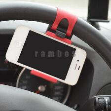 Adjustable Steering Wheel Phone Car Mount Holder iPhone HTC Samsung